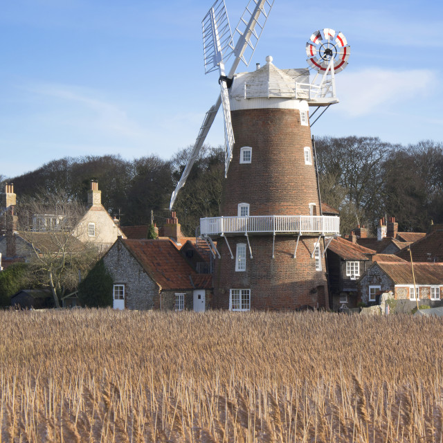 """""""Cley Windmill"""" stock image"""
