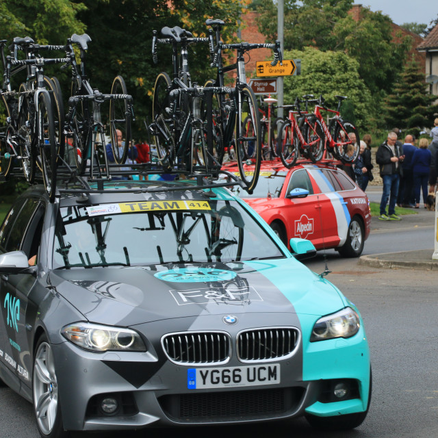 """""""Tour of Britain 2017, Stage 4, Harworth, Nottinghamshire"""" stock image"""