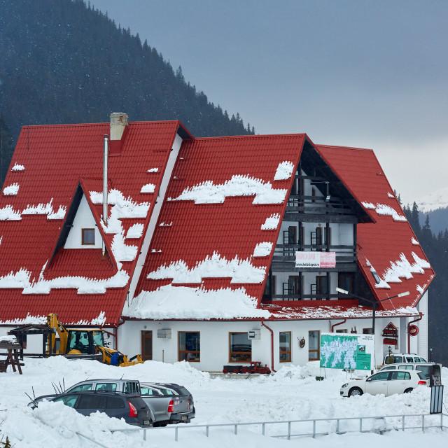 """Capra hotel in Romania"" stock image"