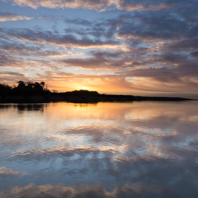 """River Deben sunrise"" stock image"