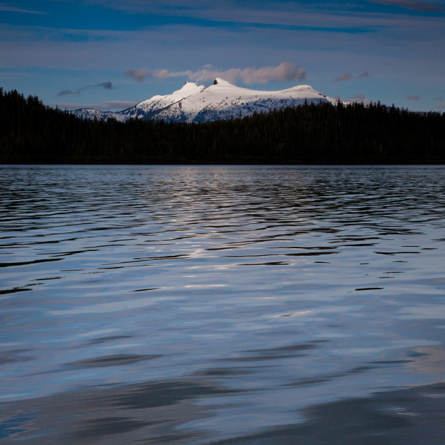 """""""Morning Along the Inside Passage"""" stock image"""