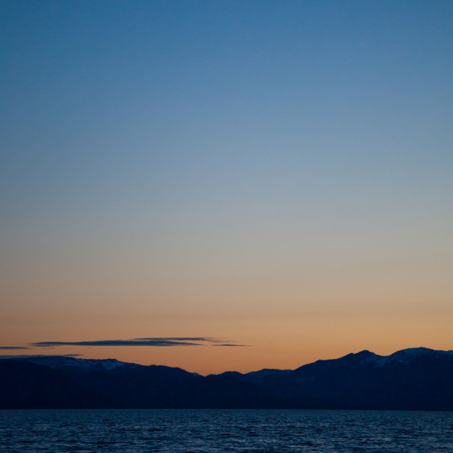 """""""New Moon from the Inside Passage"""" stock image"""