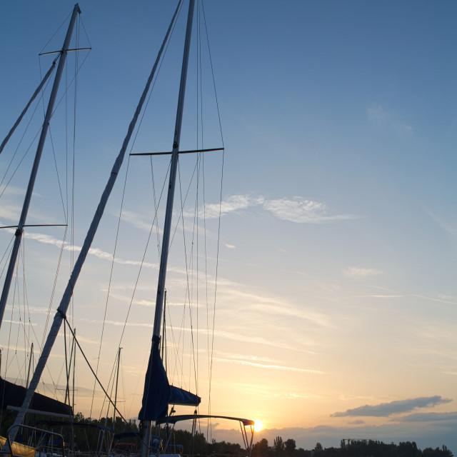 """Sailboat on Lake Balaton"" stock image"