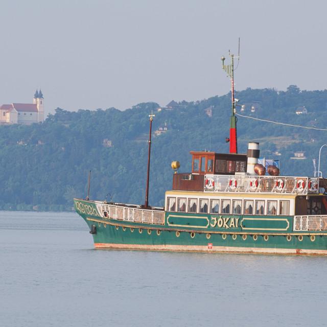 """""""Jokai Ship on Lake Balaton"""" stock image"""