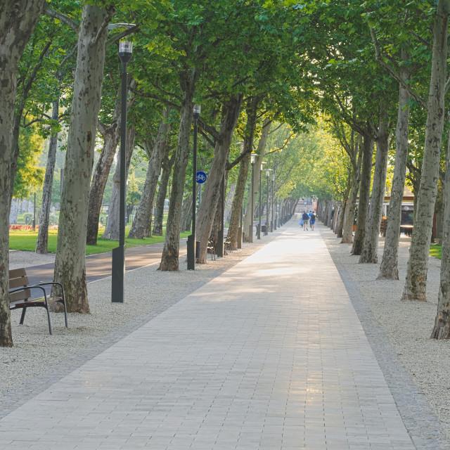 """""""Tagore Promenade in Balatonfured Hungary"""" stock image"""