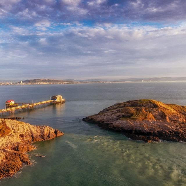 """Mumbles pier in Swansea"" stock image"