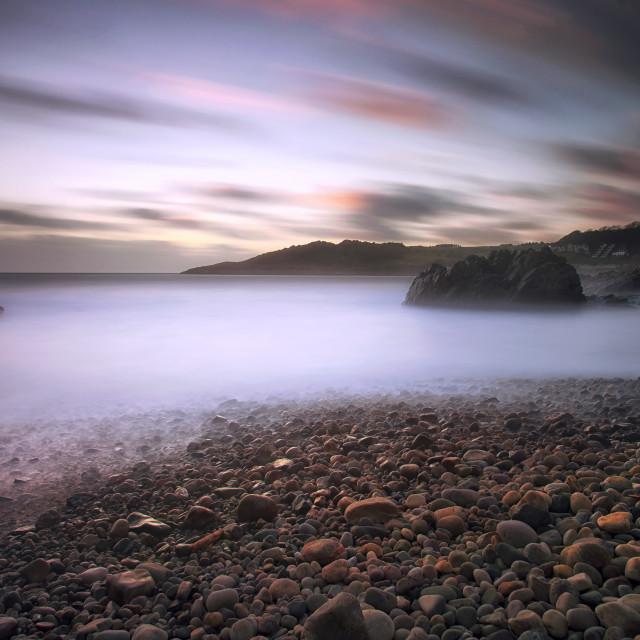 """Rotherslade Bay Gower"" stock image"