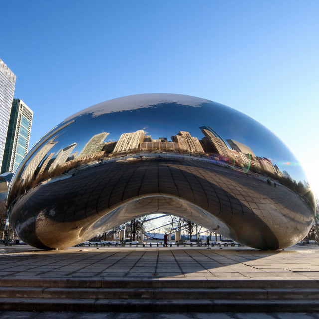 """The Bean by Anish Kapoor"" stock image"
