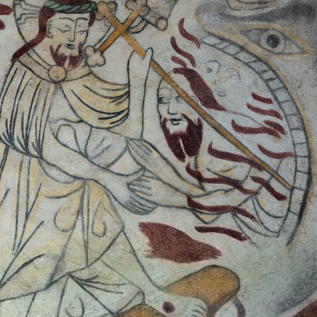 """""""Christ saving a man fro the jaws of death"""" stock image"""