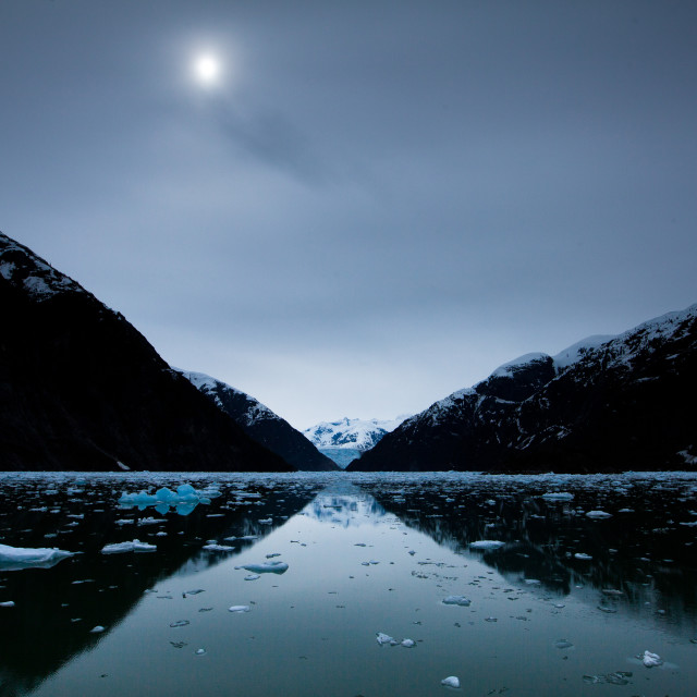 """Tracy Arm at Noon"" stock image"