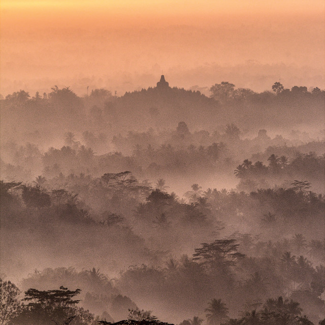 """Majestic view of Borobudur"" stock image"