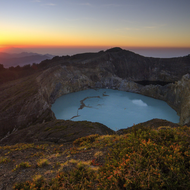 """Kelimutu 3 Colors Lake"" stock image"