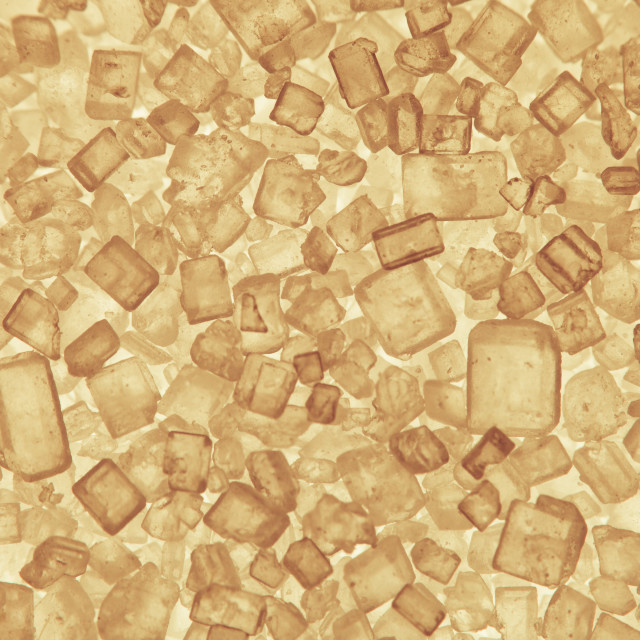 """Macro yellow sugar crystals"" stock image"