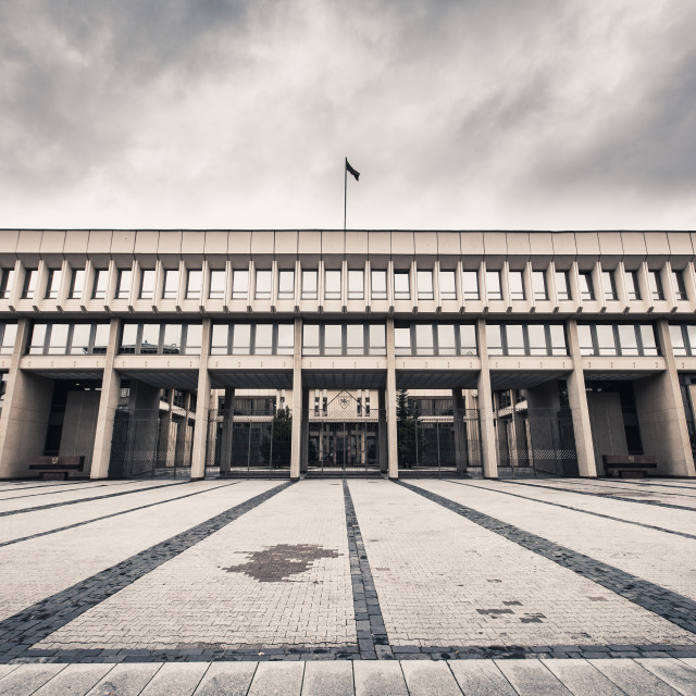 """Parliament Building, Vilnius, Lithuania"" stock image"