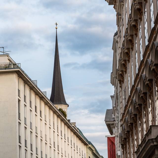 """""""Old residential buildings in historical city centre of Vienna"""" stock image"""