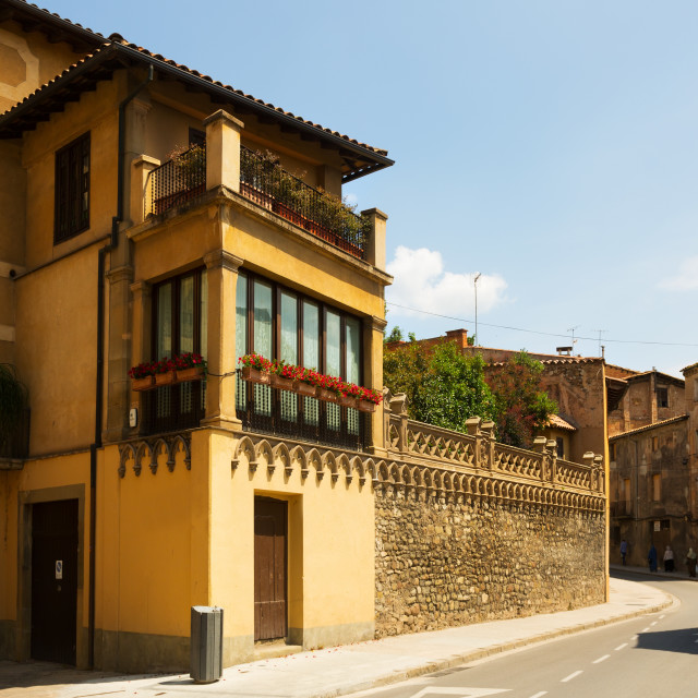 """""""picturesque street of Catalan town. Vic"""" stock image"""