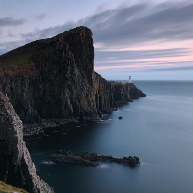 """""""Neist Point Sunset - Isle of Skye"""" stock image"""