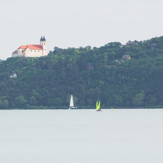 """""""Tihany Peninsula and Lake Balaton"""" stock image"""