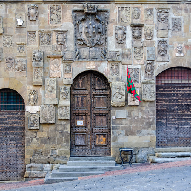 """""""Coats of arms - Arezzo"""" stock image"""