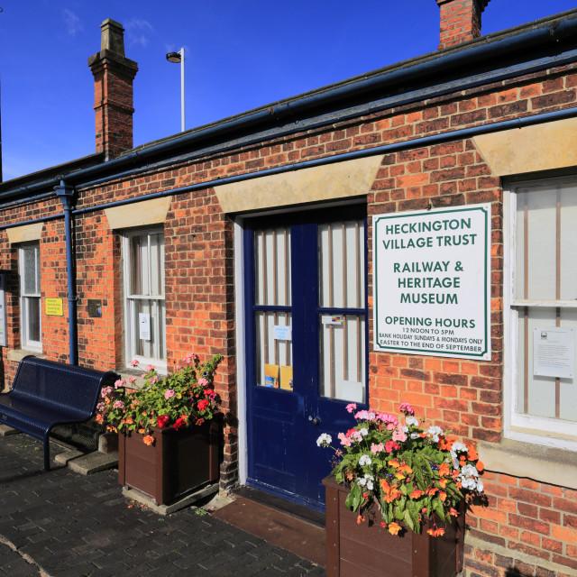 """Heckington heritage museum, Heckington village, Lincolnshire; England; UK"" stock image"