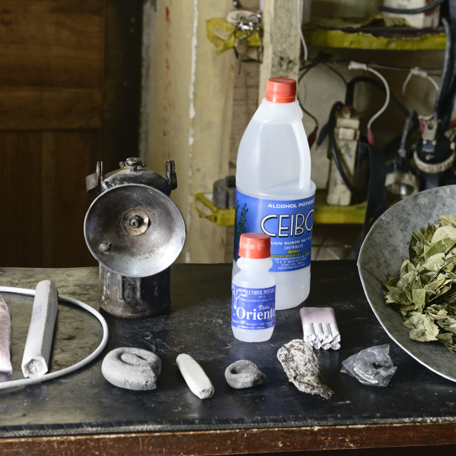 """Essential items in a miners daily tool kit, Potosi, Bolivia"" stock image"