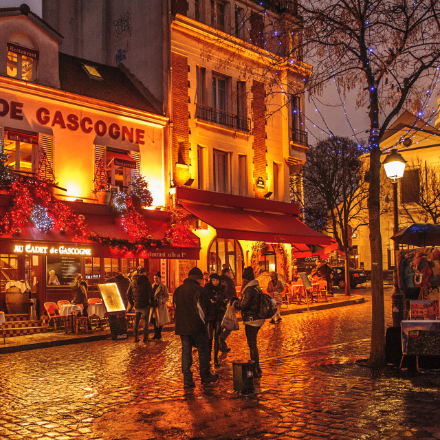 """Montmarre, Paris, in the early evening."" stock image"