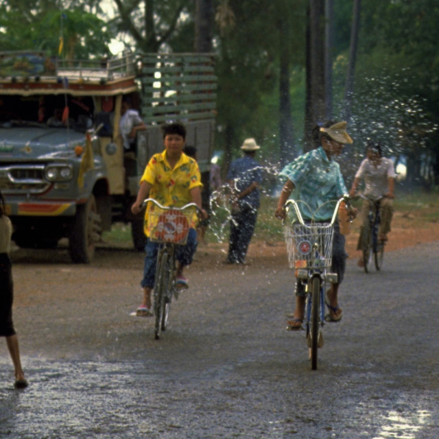 """Songkran in Vientiane, Laos"" stock image"