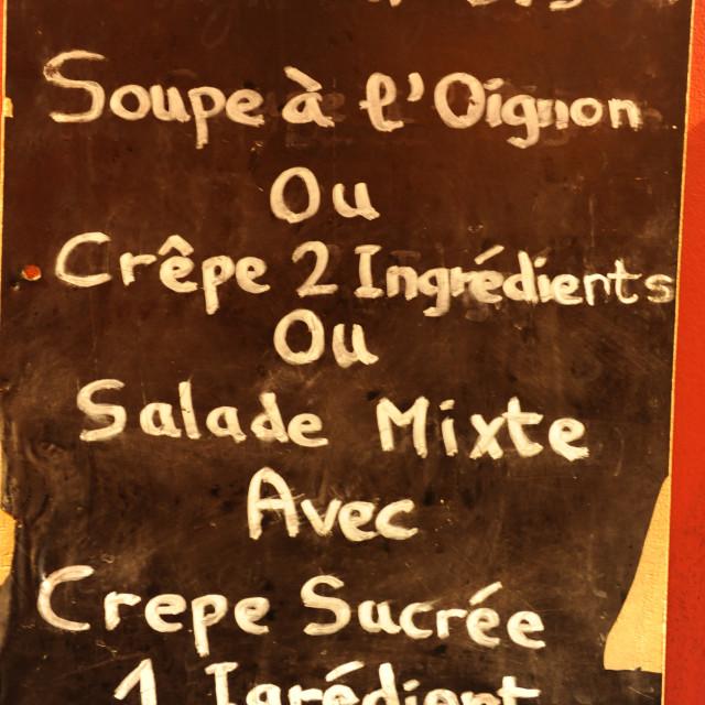 """French cafe menu"" stock image"
