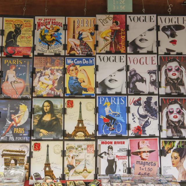 """""""Poster Sellers' Display, Paris"""" stock image"""