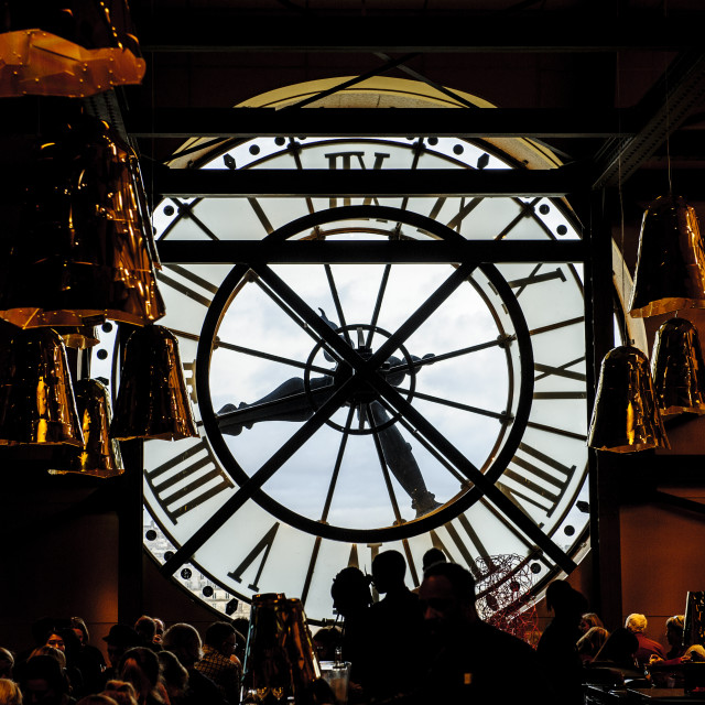 """""""Clock Cafe, Musee d'Orsay, Paris"""" stock image"""