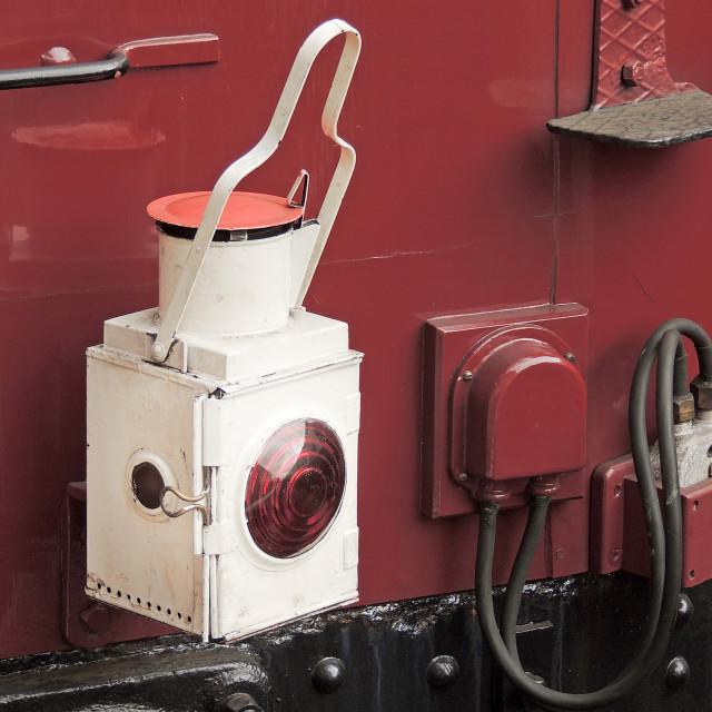 """Vintage Train Lamp"" stock image"