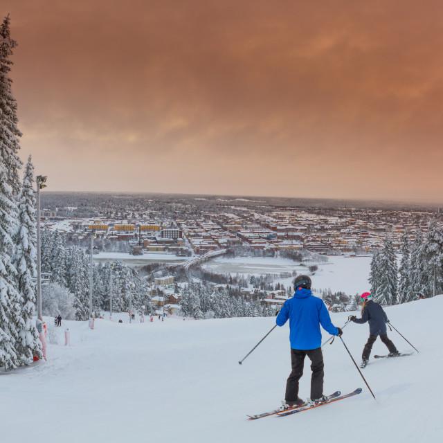 """winter in Östersund Jämtland"" stock image"