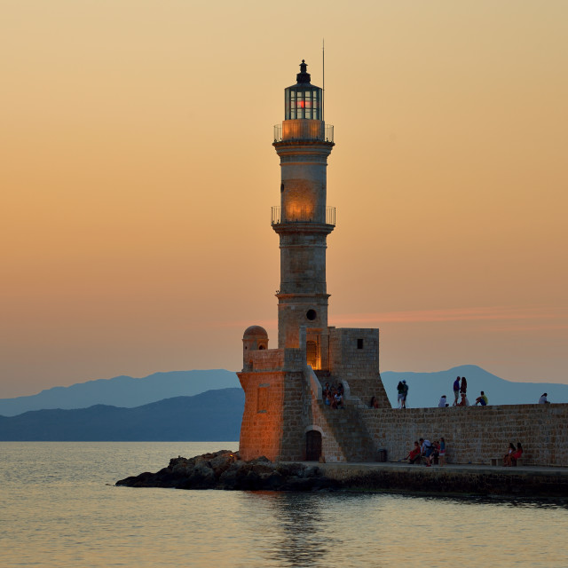 """""""The lighthouse of Chania Crete"""" stock image"""