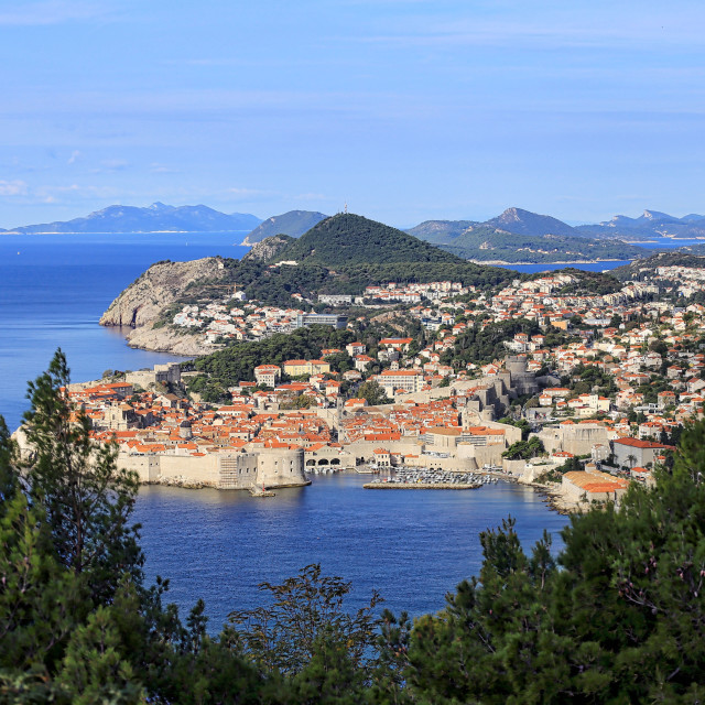 """View of the old town in Dubrovnik Croatia"" stock image"