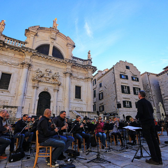 """An Orchestra practice at old town Dubrovnik Croatia"" stock image"