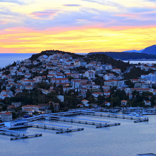 """Sunset at Dubrovnik Croatia"" stock image"