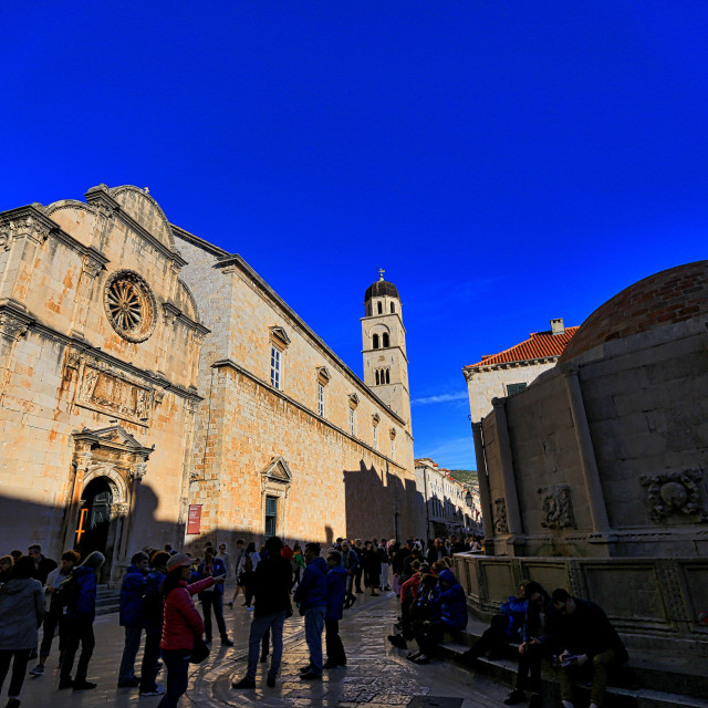 """medieval buildings/church at old town Dubrovnik Croatia"" stock image"