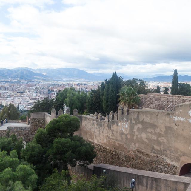"""""""Castillo de Gibralfaro, Malaga"""" stock image"""