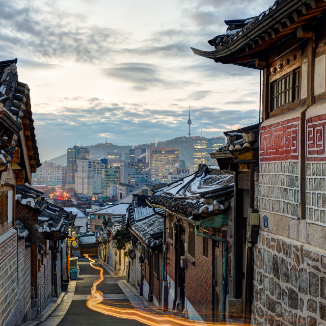 """Morning in Bukchon"" stock image"