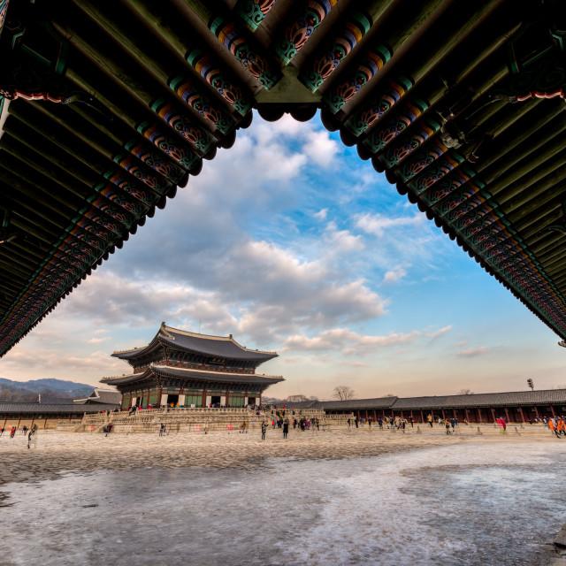 """Kyoungbok Palace Frame"" stock image"