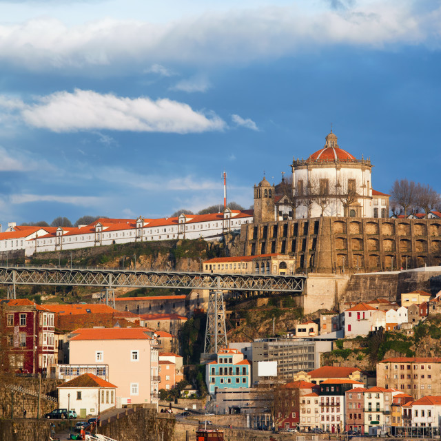 """""""Porto and Vila Nova de Gaia Cityscape in Portugal"""" stock image"""