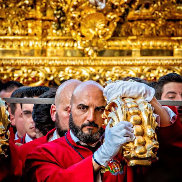 """Semana Santa Penitent 2016"" stock image"