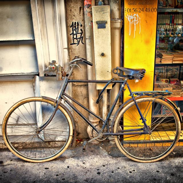 """Bicycle in Paris"" stock image"