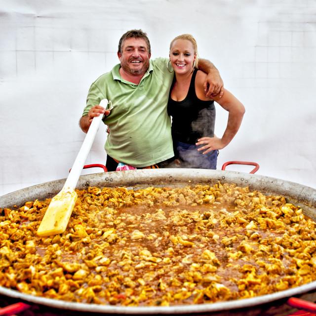 """Giant paella in Fuengirola, Spain"" stock image"