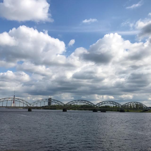 """""""Daugava River View"""" stock image"""