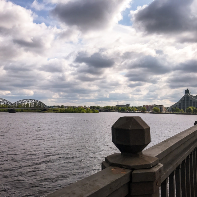 """Akmens Tilts River View"" stock image"