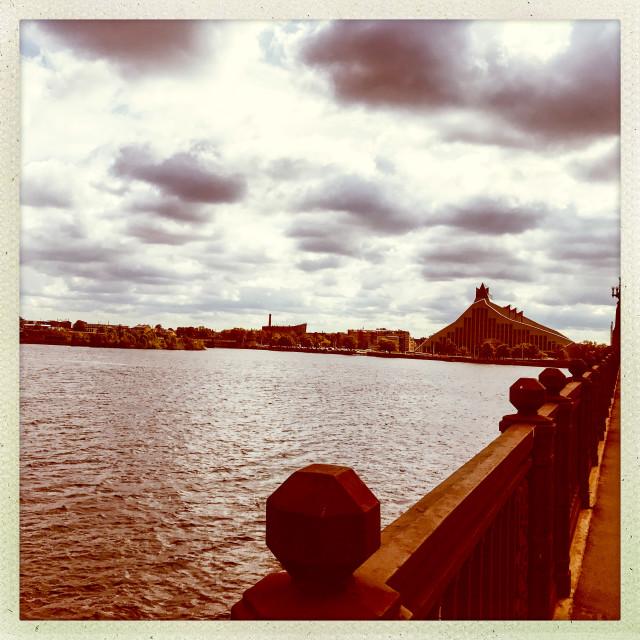 """Riga River Filter View"" stock image"