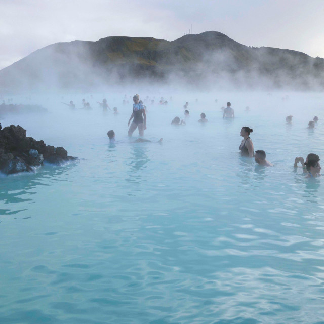 """The Blue Lagoon, Iceland"" stock image"