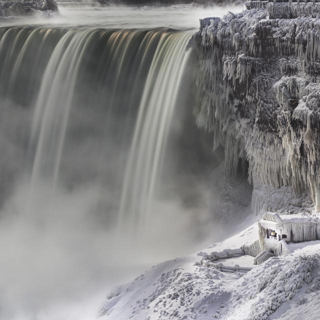 """""""Frozen Niagara"""" stock image"""