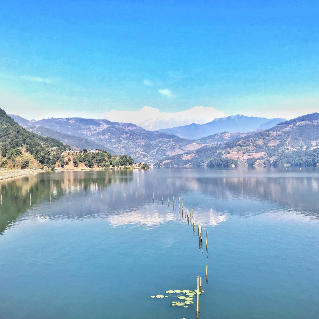 """Reflection of Himalayan Range"" stock image"